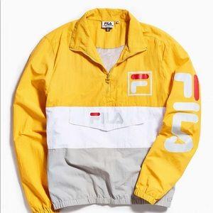 Fila Kensington Anorak Jacket Yellow